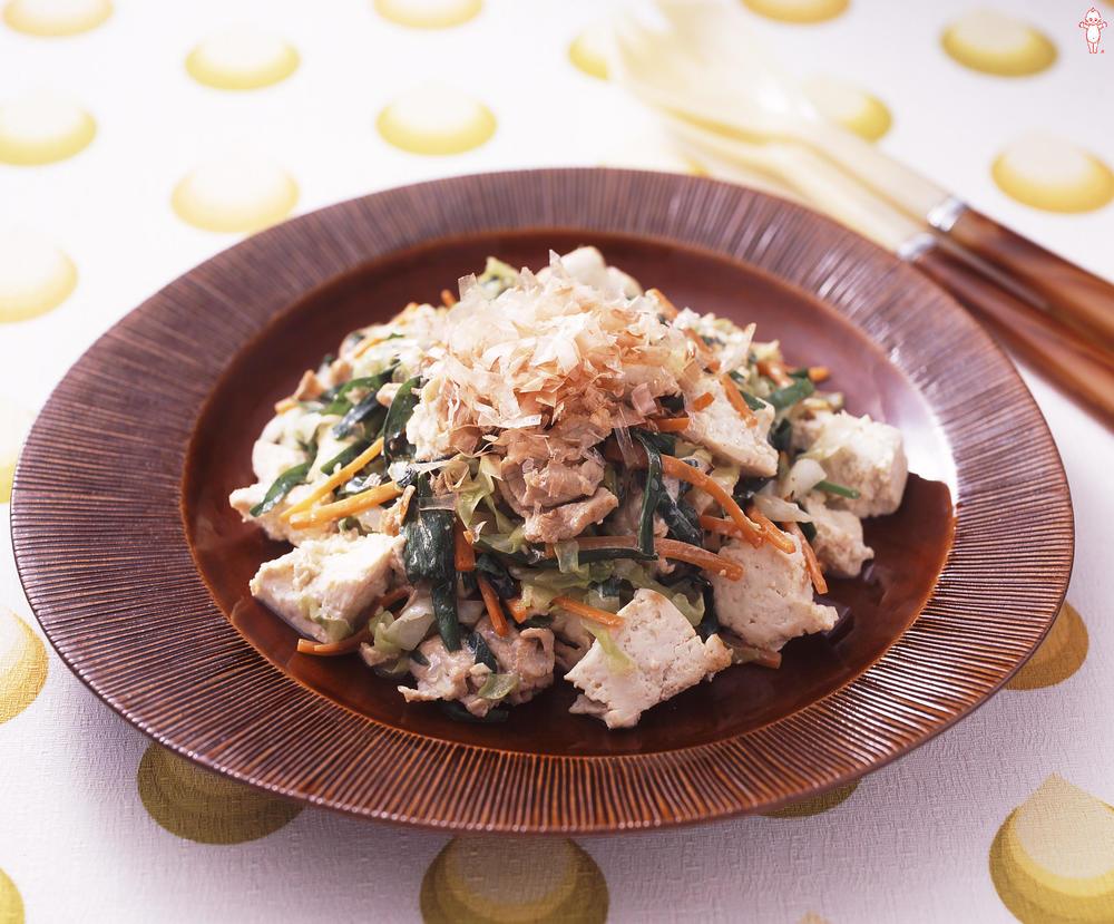 写真:豚肉と彩り野菜のチャンプルー