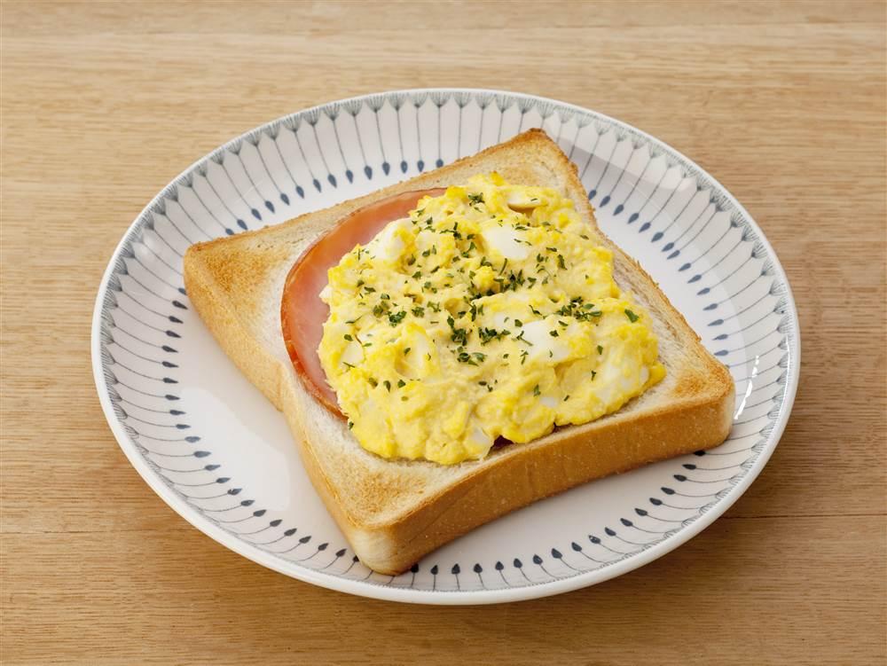 写真:ハムエッグトースト