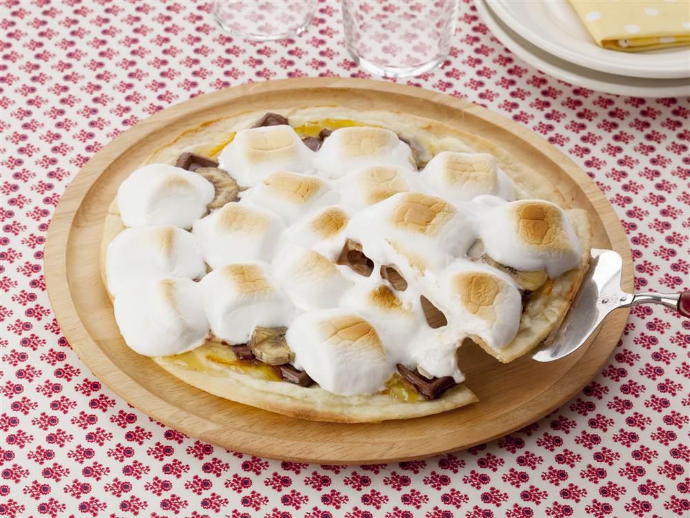 写真:ママレードとバナナのチョコマシュマロピザ