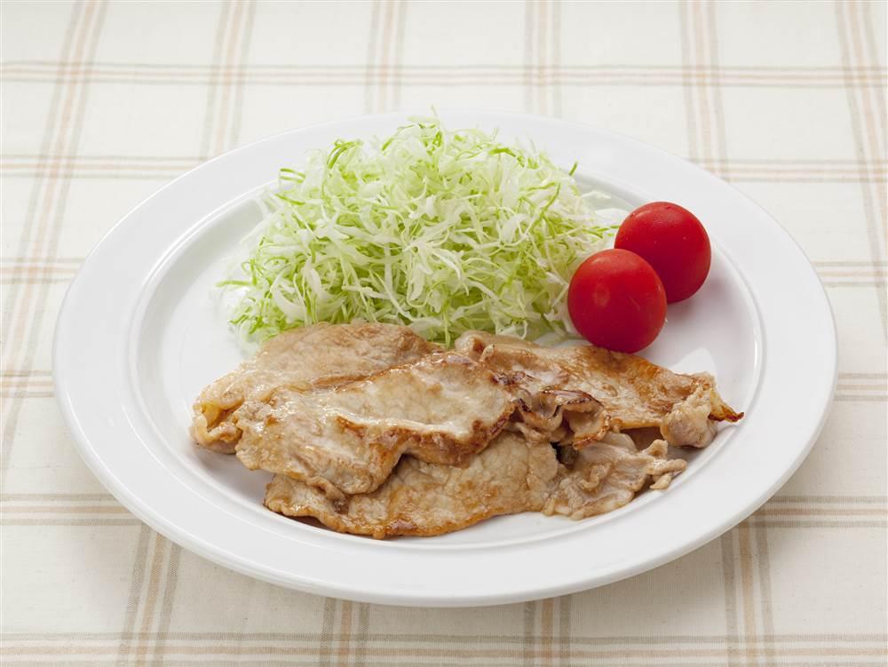 写真:豚肉の黒酢たまねぎ炒め