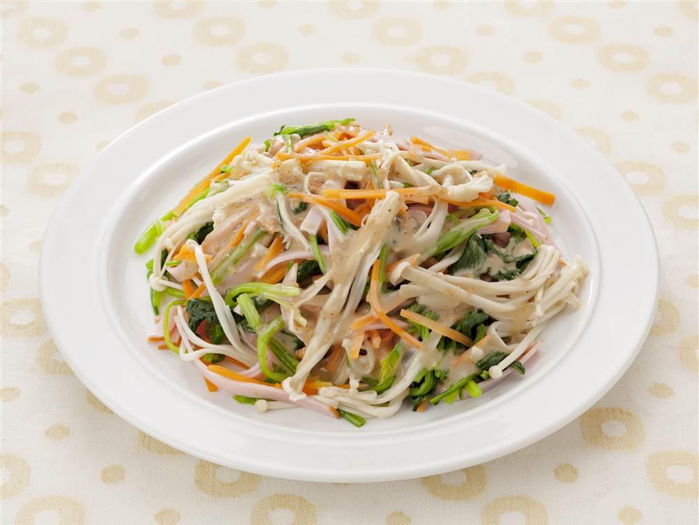 写真:えのきとほうれん草のサラダ