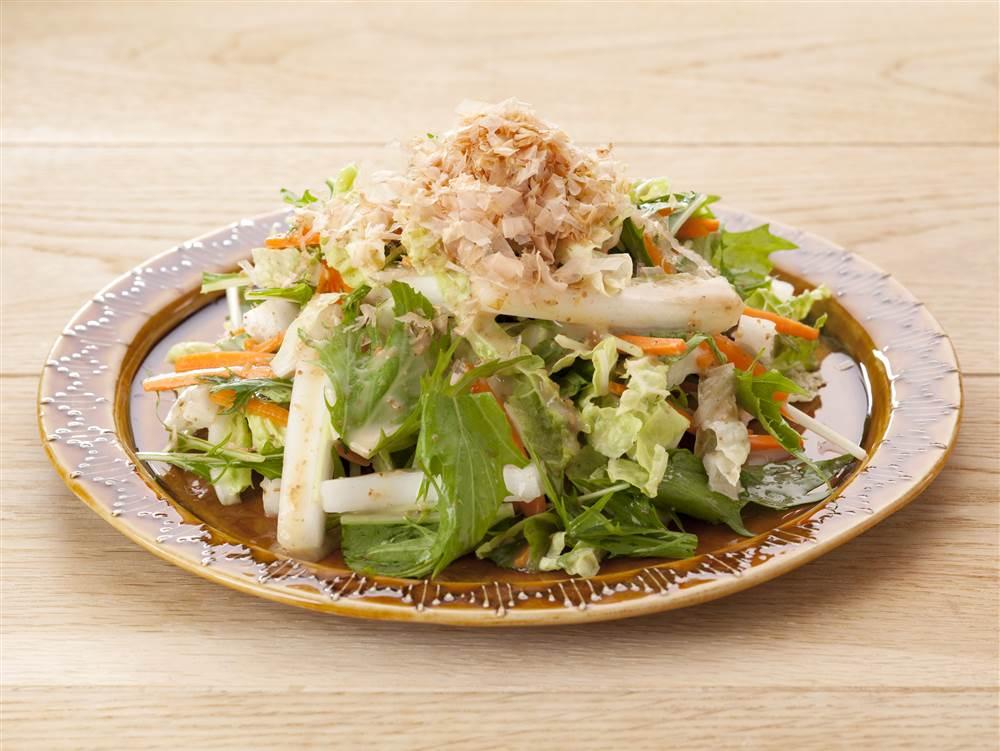 写真:白菜と水菜のあえサラダ