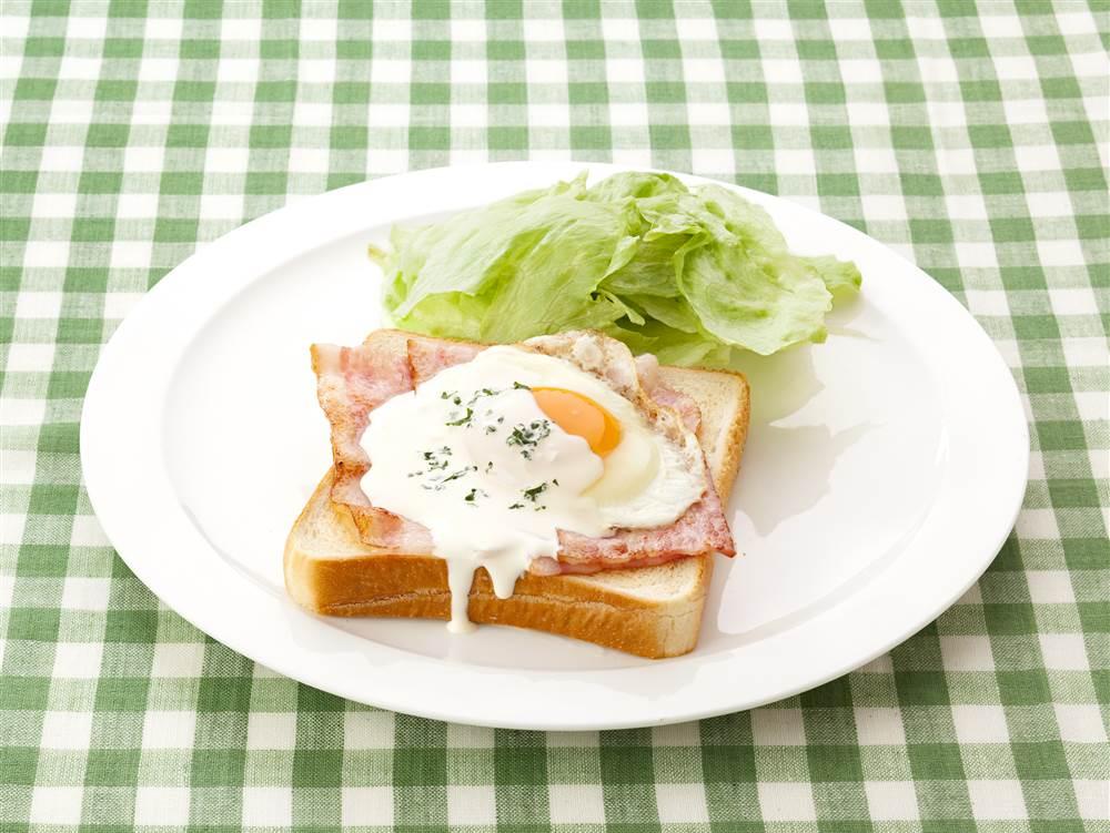 写真:エッグベネディクト風トースト