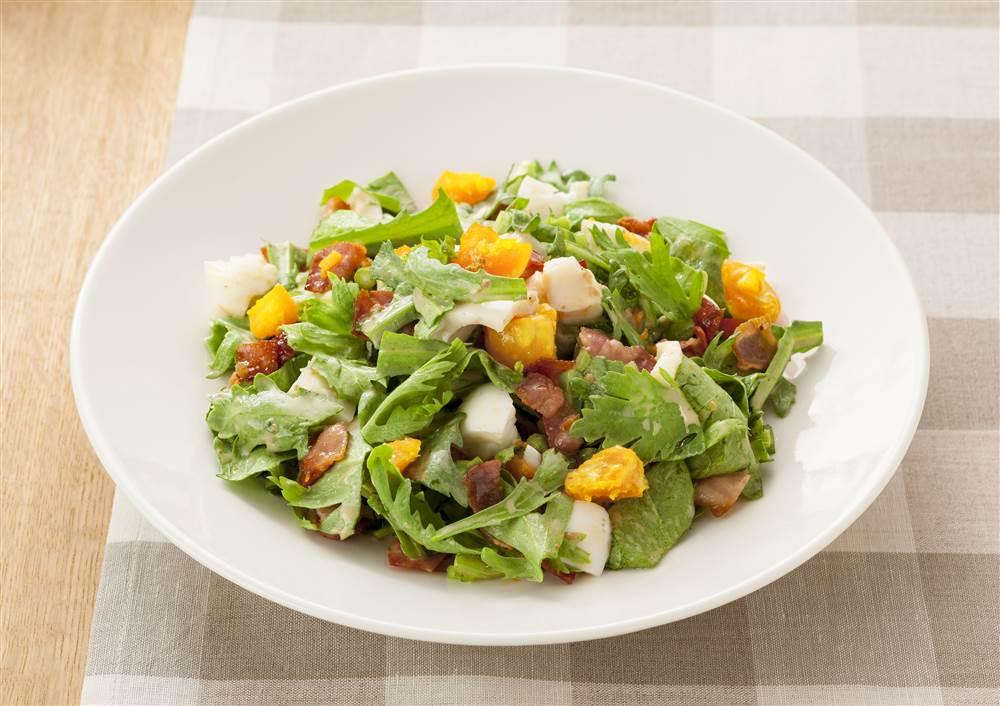 春菊とゆで卵のチョップドサラダ | とっておきレシピ | キユーピー