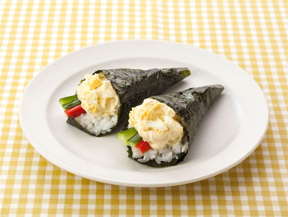写真:たまごの手巻き寿司