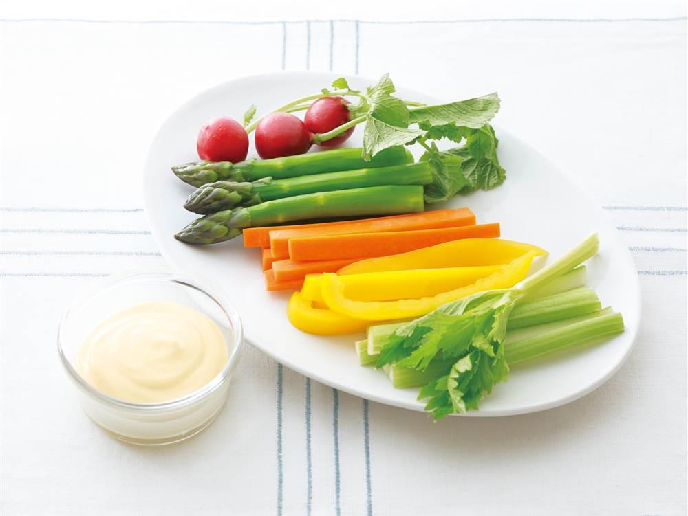 写真:カラフル野菜のディップ