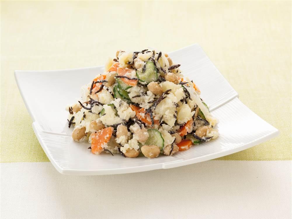 写真:ひじきと大豆のあっさりポテトサラダ