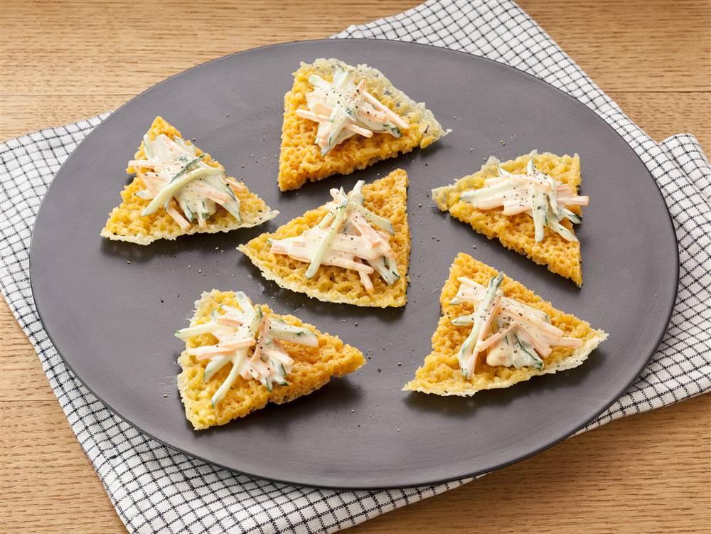 写真:せん切りマヨサラダのチーズクラッカー