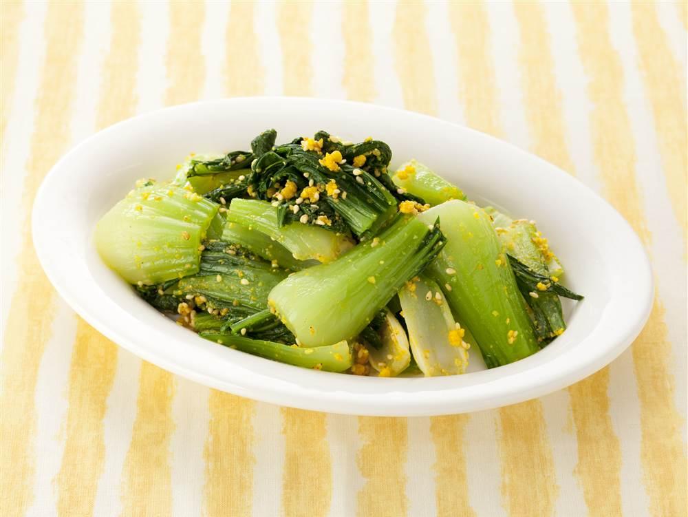 写真:チンゲン菜のからし和え