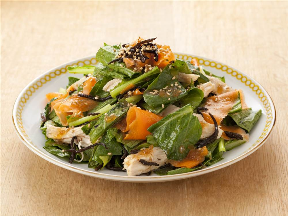 写真:小松菜とひじきのサラダ