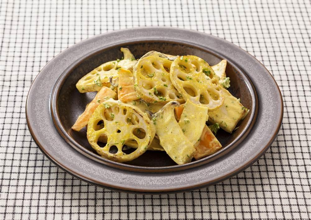 写真:グリル野菜のカレーマヨ和え