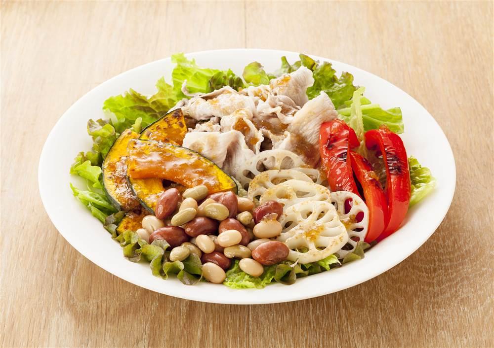 写真:和豆と焼き野菜のサラダ