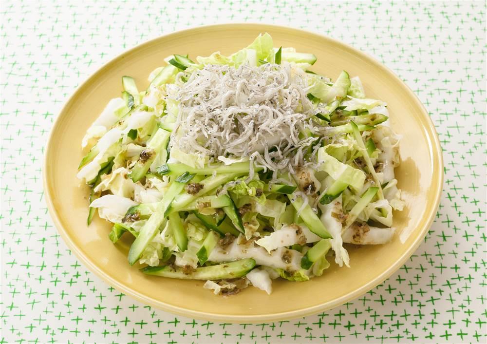 写真:白菜とじゃこのチョレギサラダ
