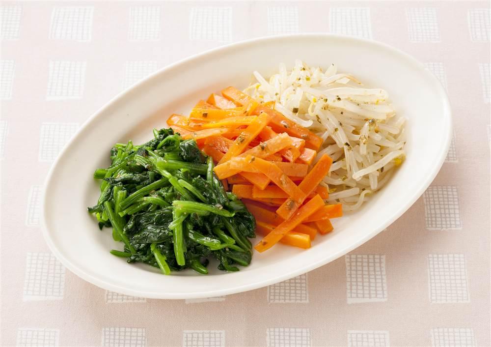 写真:韓国風3色ナムル