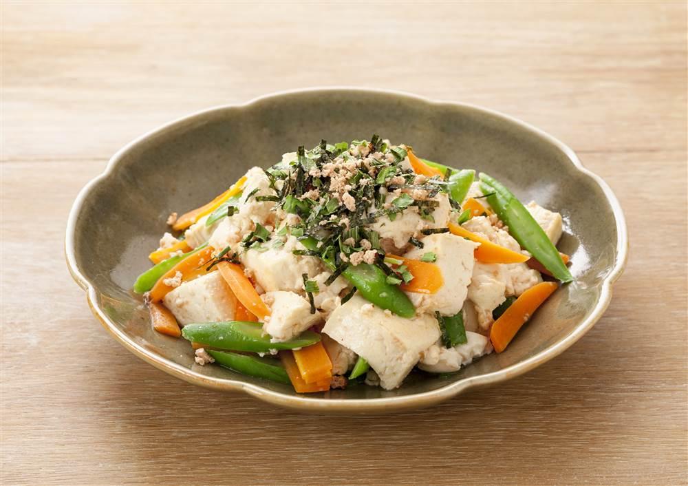 写真:炙りたらこの炒り豆腐
