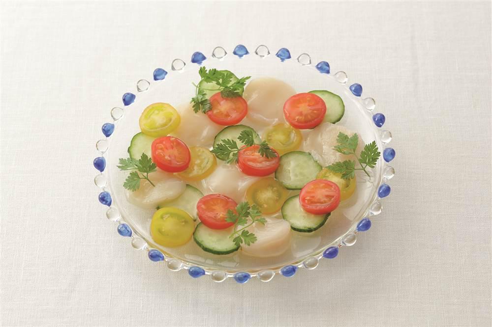 写真:ほたてとトマトのサラダ
