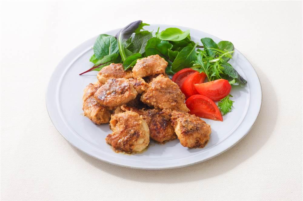 写真:鶏むね肉のみそマヨ焼き