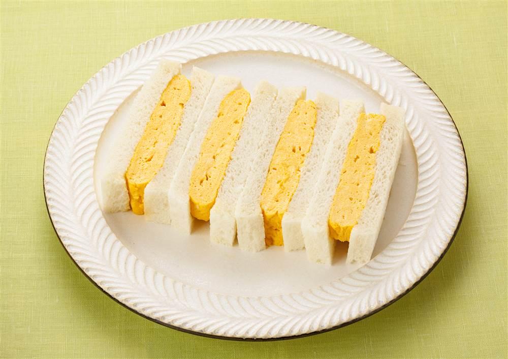 写真:マヨネーズで!だし巻きたまごのサンドイッチ