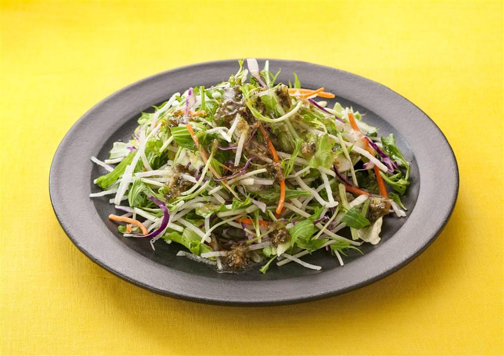 写真:水菜と大根のチョレギサラダ