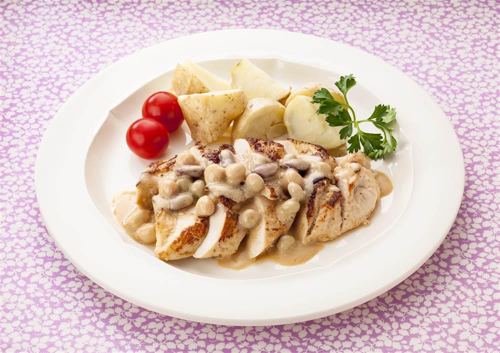 写真:鶏むね肉のバルサミコ酢マヨ焼き