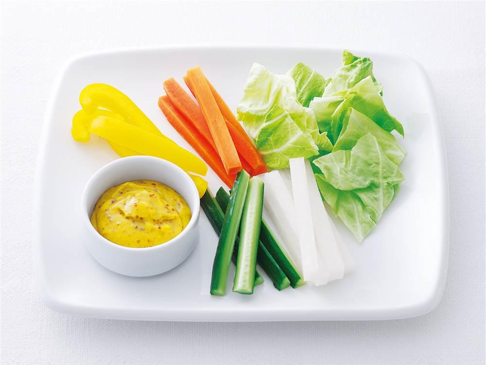 写真:スティック野菜のハニーマスタードマヨディップ