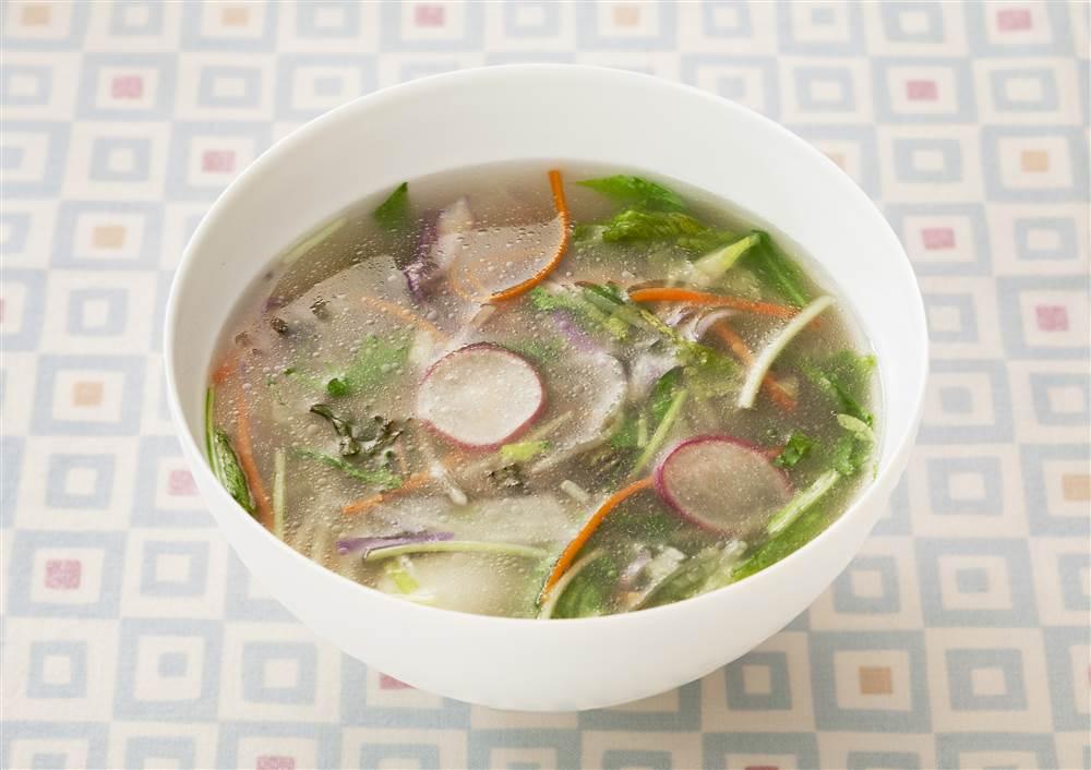 写真:パッケージサラダでかんたん!白湯スープ