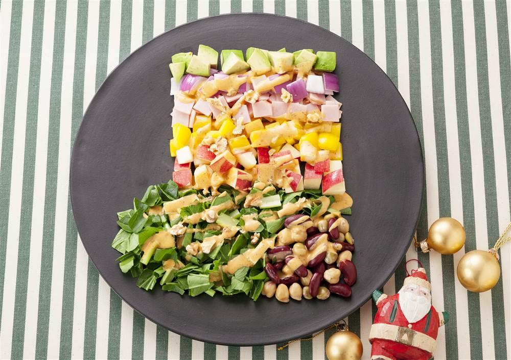 写真:クリスマスソックスのパワーサラダ
