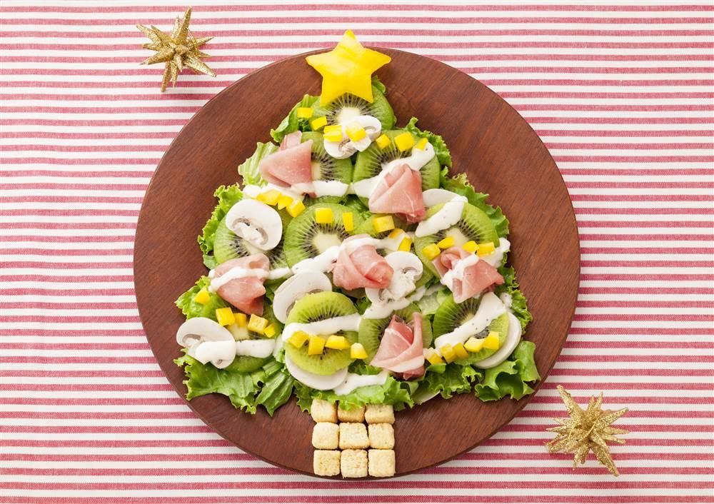 写真:クリスマスツリーのパワーサラダ
