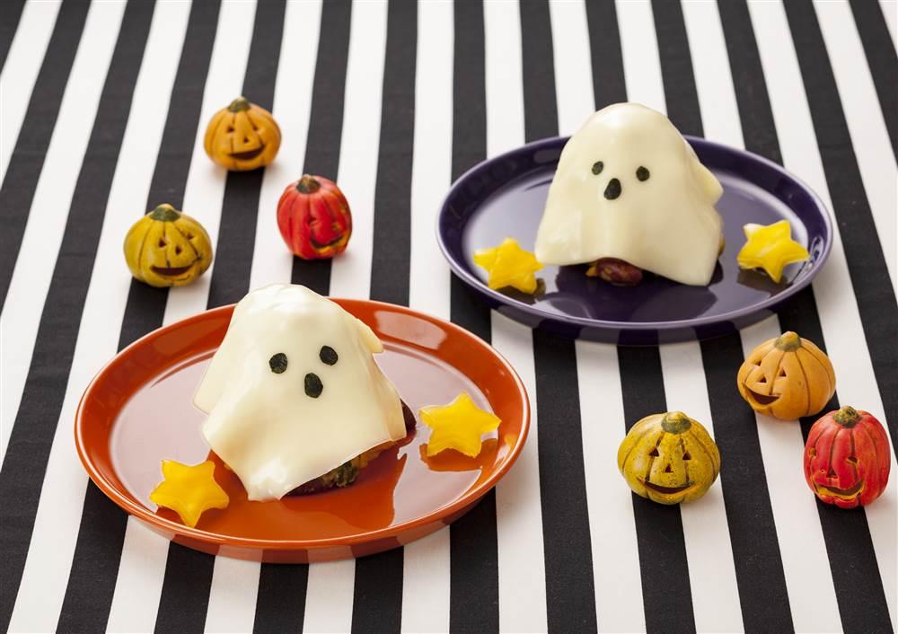 写真:かぼちゃとりんごのおばけホットサラダ