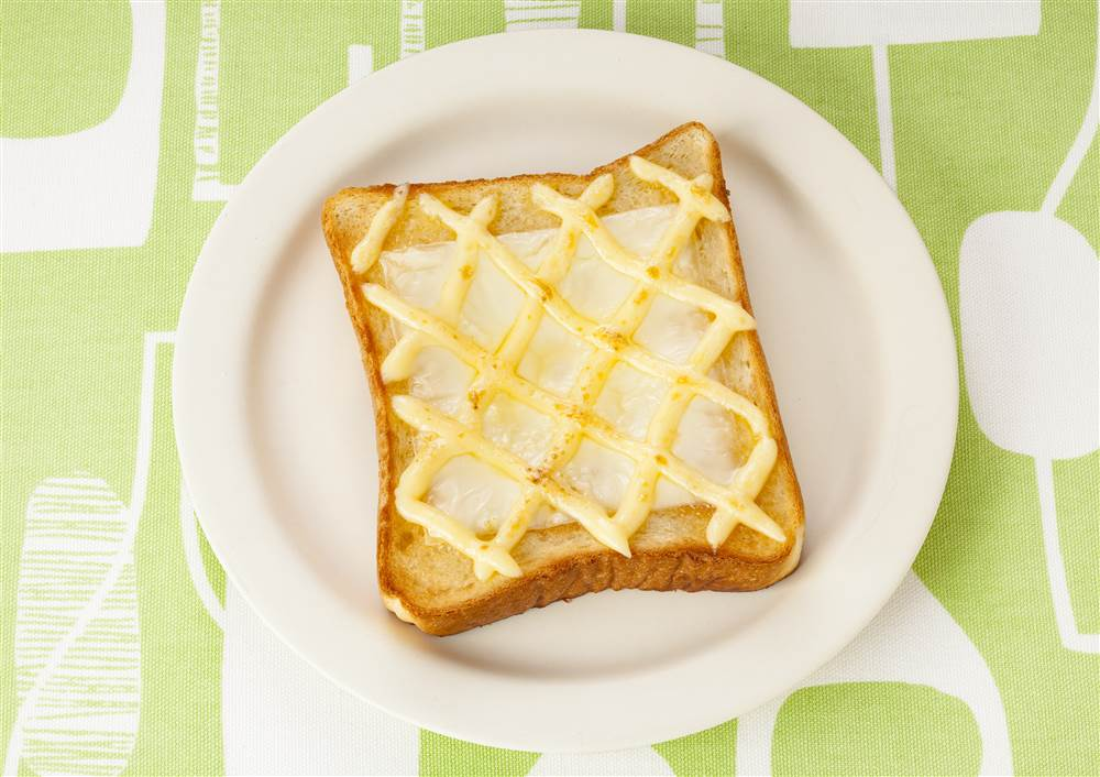 写真:チーズのハニーマヨトースト