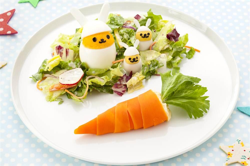 写真:親子うさぎとにんじんのイースターサラダ