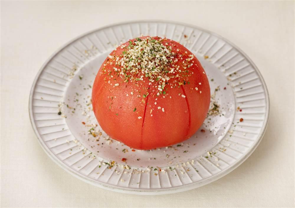 写真:まるごとトマトのサラダ