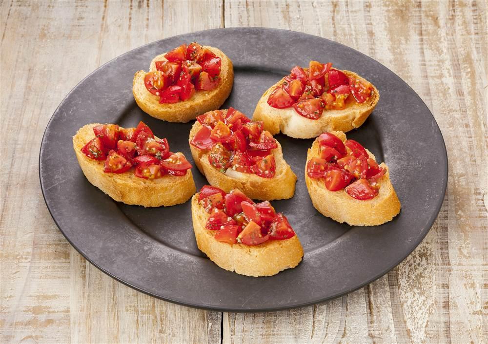 写真:プチトマトのブルスケッタ