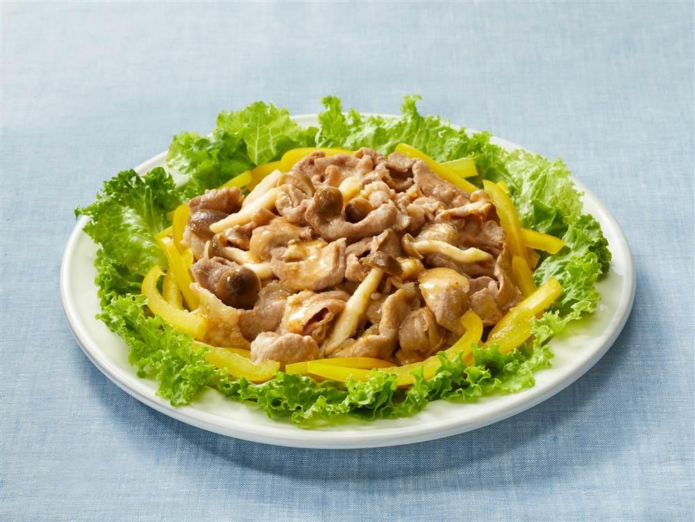 写真:豚肉としめじのサラダ