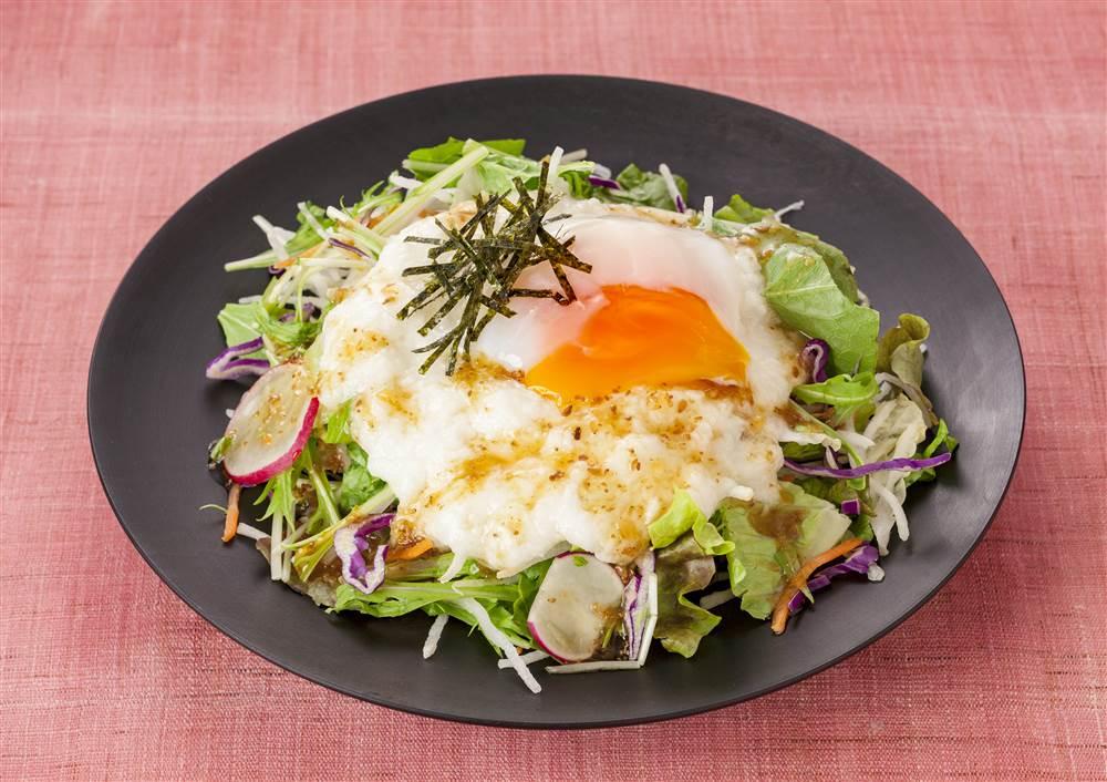 写真:水菜と大根のとろろサラダ