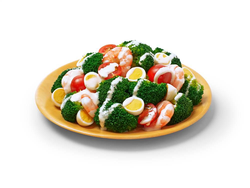 写真:えびとうずら卵とブロッコリーのサラダ
