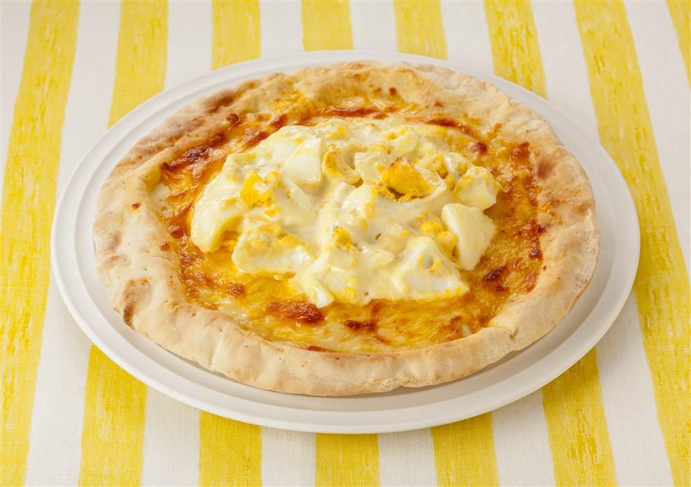 写真:たまごのピザ
