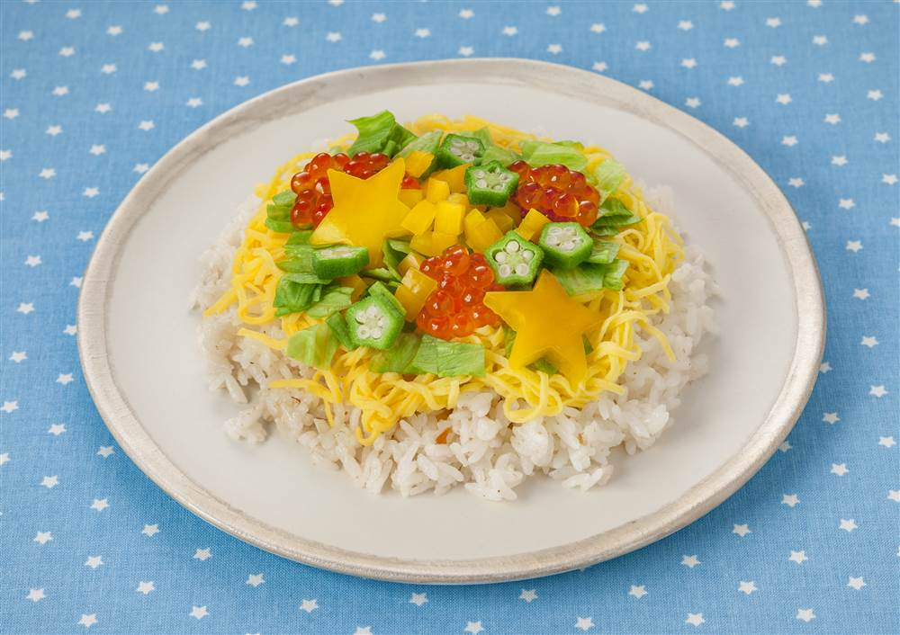 写真:お星さまのサラダ寿司