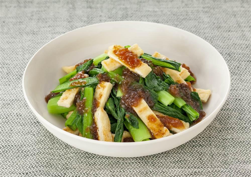 写真:小松菜と油揚げのお浸し