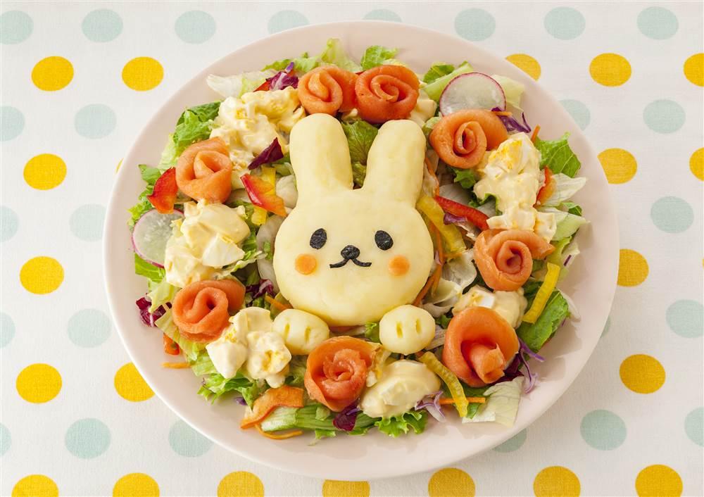 写真:イースターうさぎとたまごのサラダ