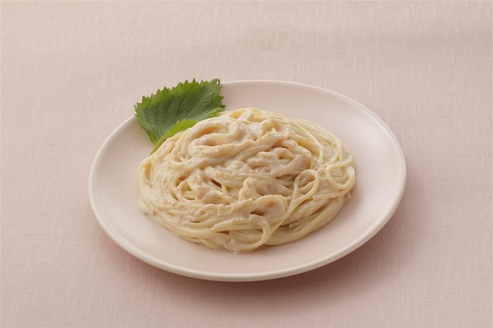 写真:たらこクリームスパゲッティ なめらかクリーム仕立て