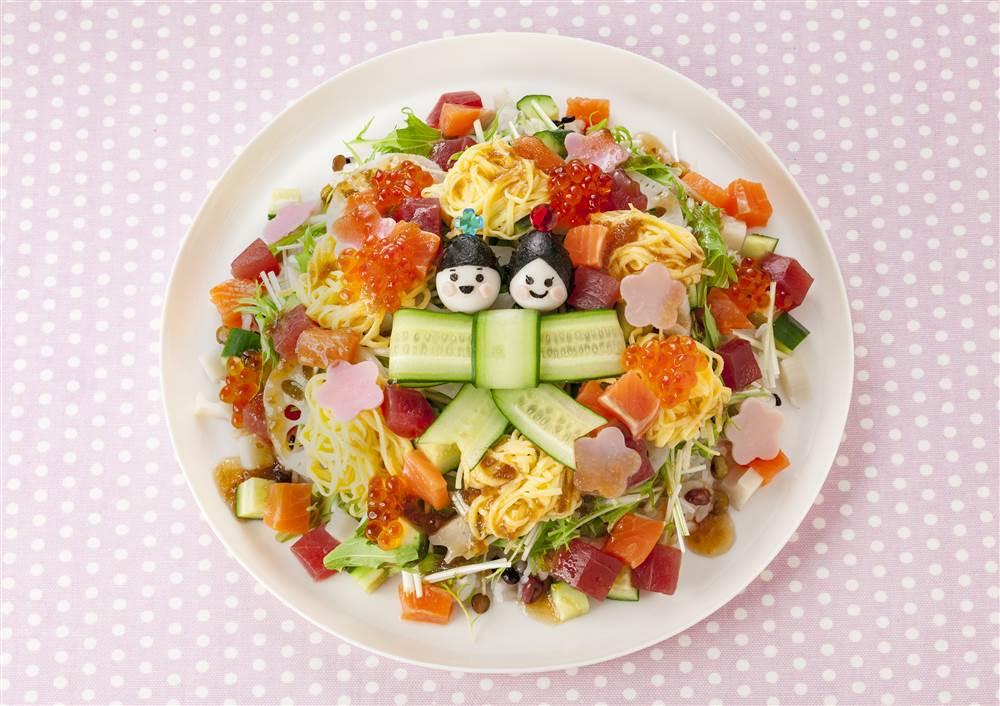 写真:ひなまつりサラダ寿司