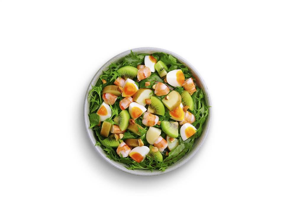 写真:えびとキウイのパワーサラダ