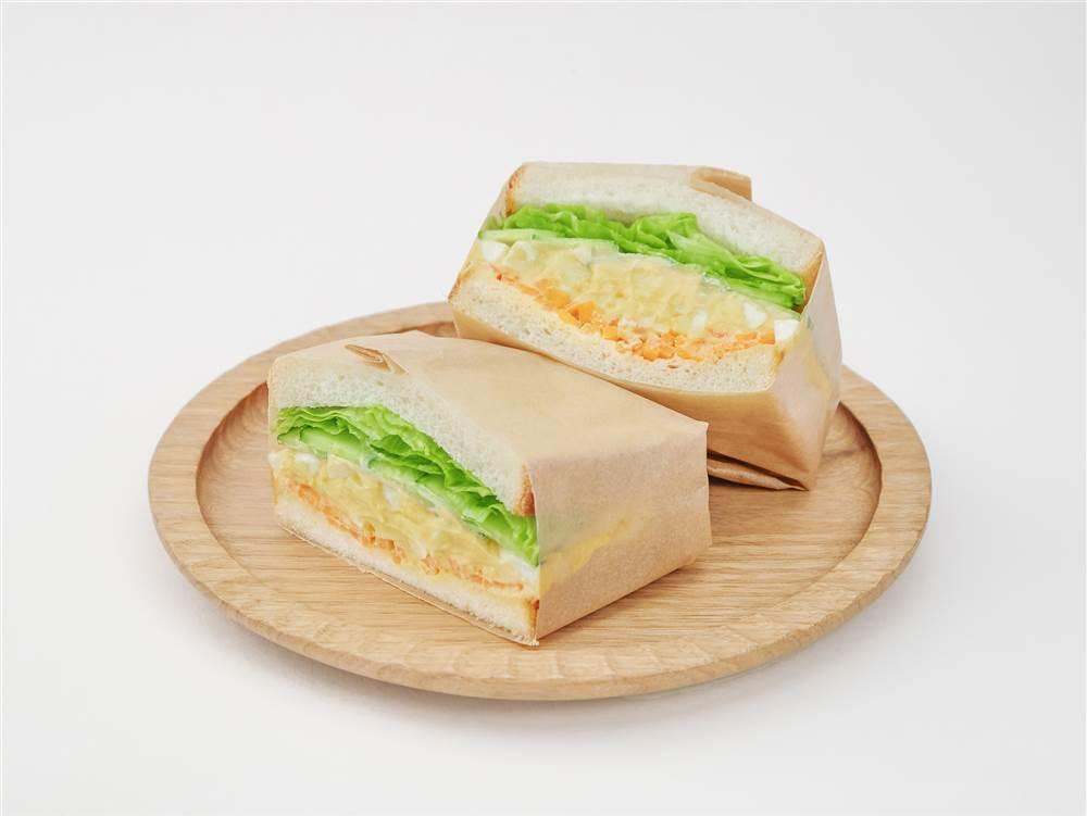 写真:たまごとキャロットラペのサンドイッチ