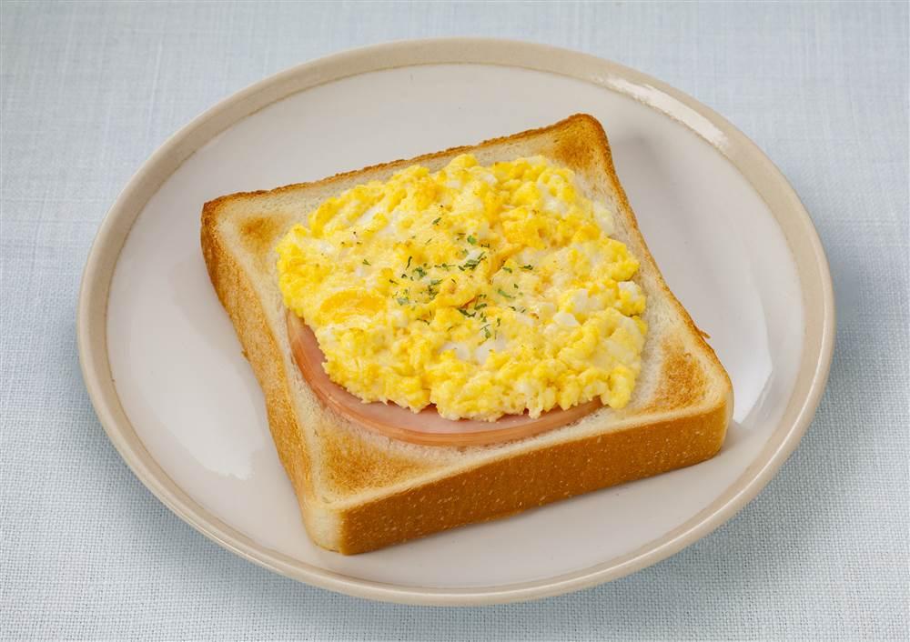 写真:たまごとハムのトースト