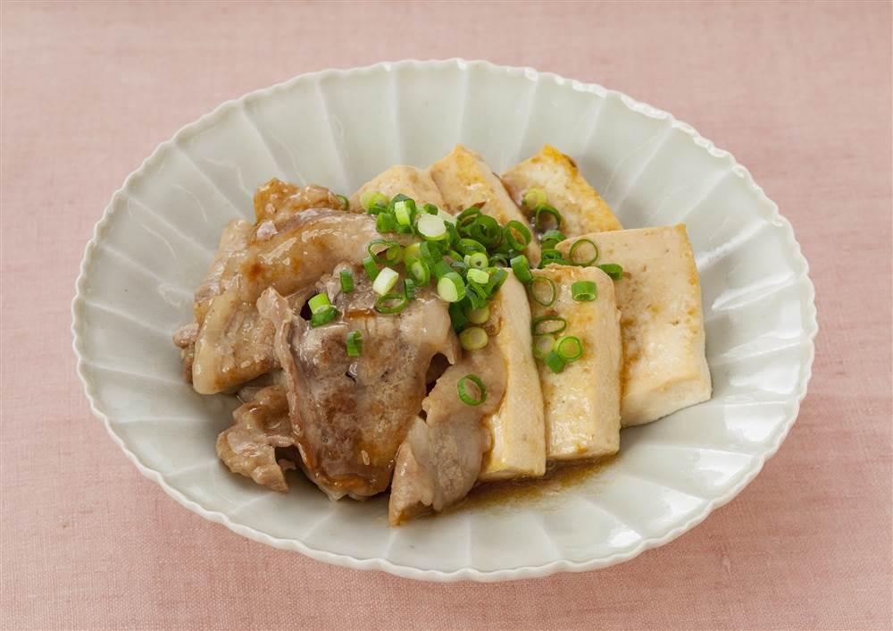 写真:ドレッシングで!さっぱり肉豆腐