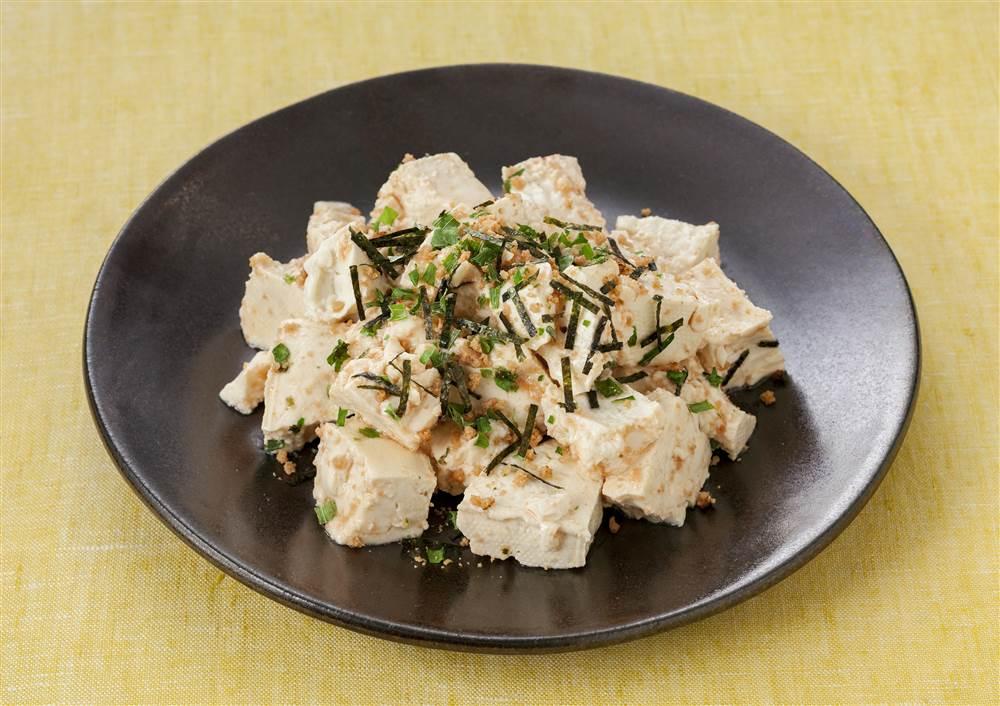 写真:パスタソースで!たらこ豆腐