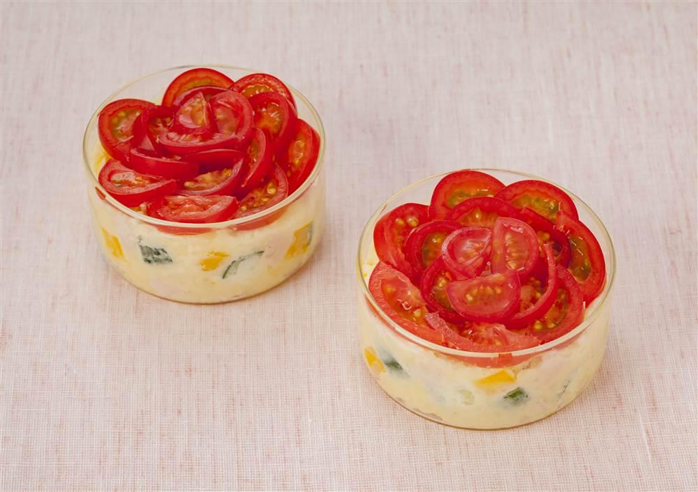 写真:プチトマトのローズポテサラ