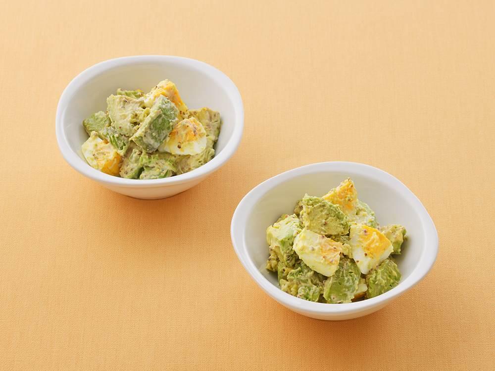 写真:アボカドとゆで卵のマスタードマヨサラダ