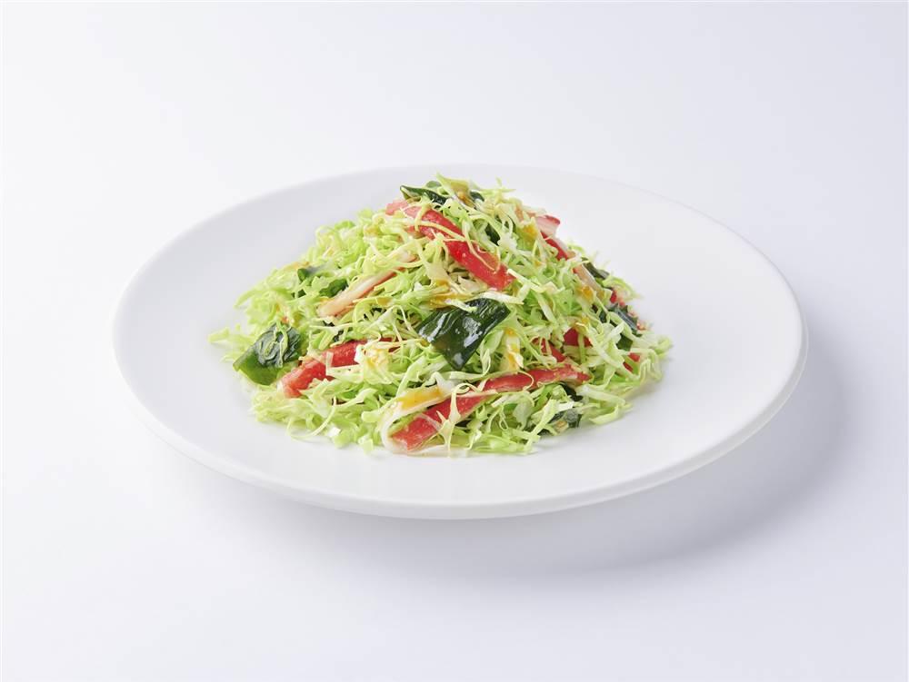 写真:キャベツとかにかまのあえサラダ